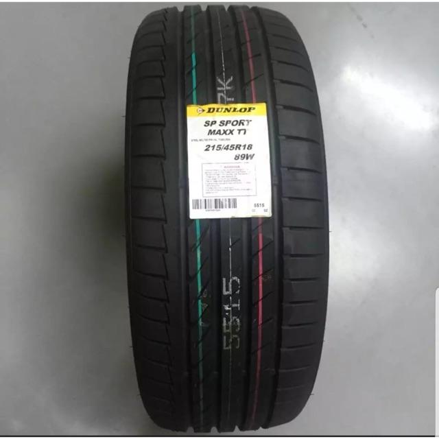 ยาง Dunlop spmaxxtt 215/45r18 ใส่รถ mazda3