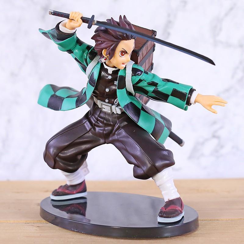 โมเดลอนิเมะ Anime Demon Slayer Kimetsu No Yaiba Kamado Tanjirou VC Figure Figurine Model Toy Demon Slayer  NARUTO