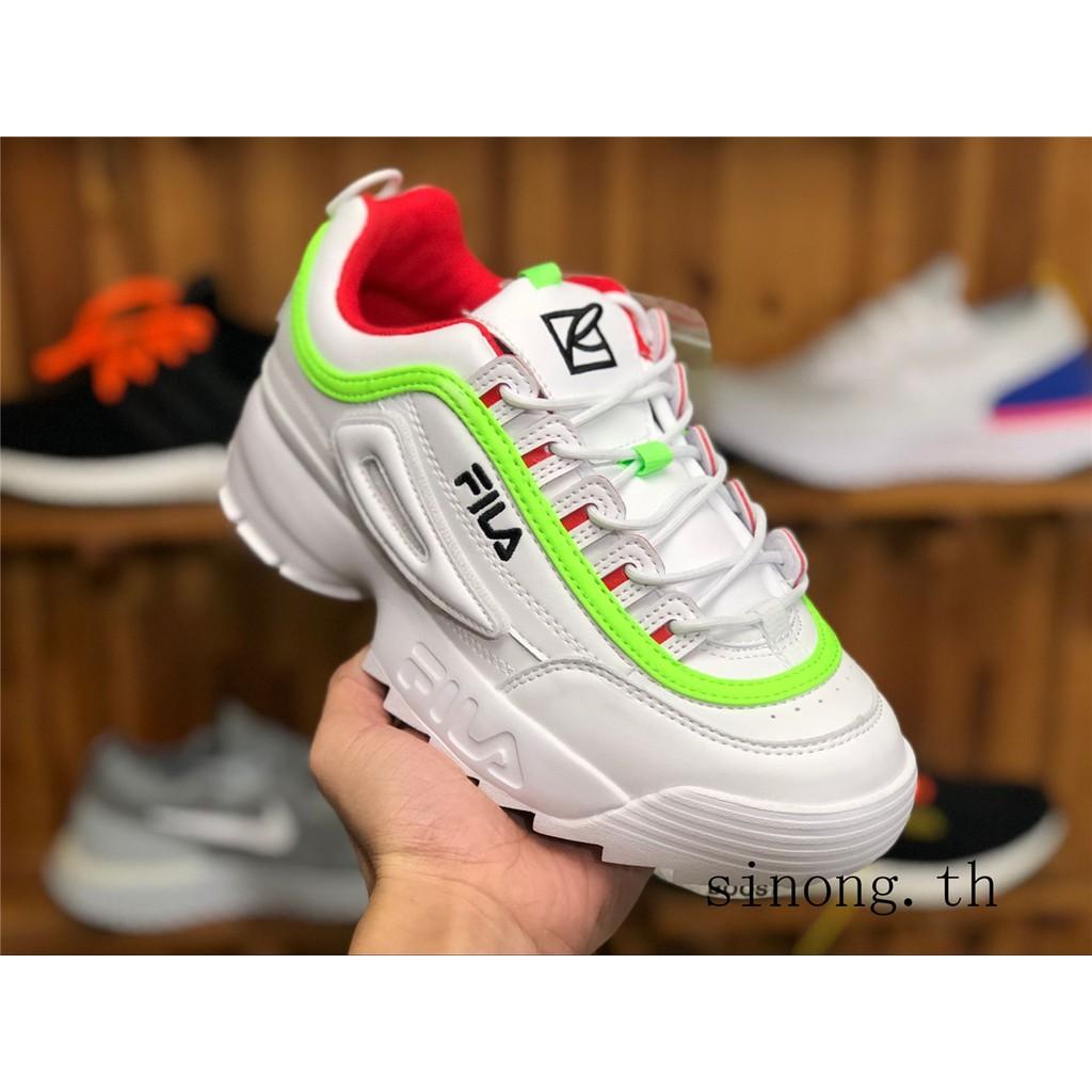TOP รองเท้าผ้าใบ Fila VENOM ขาว รองเท้าวิ่ง