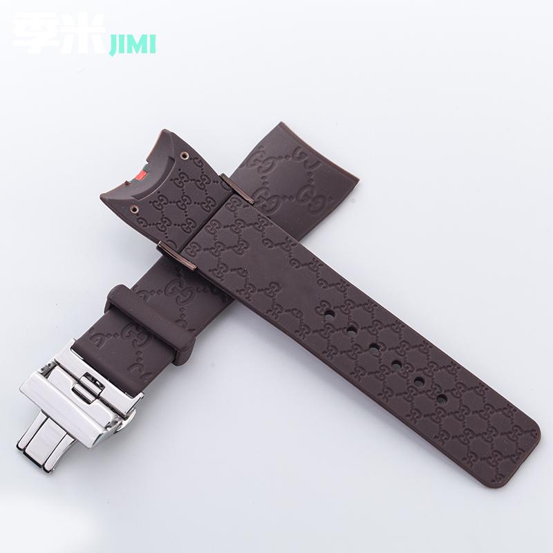 ㇳ✄สายนาฬิกา applewatchสายนาฬิกา gshockChimi Fit Gucci STRAP Gucci YA1114-2/071เข็มขัดซิลิโคนผู้ชายและผู้หญิงนาฬิกายางกุช