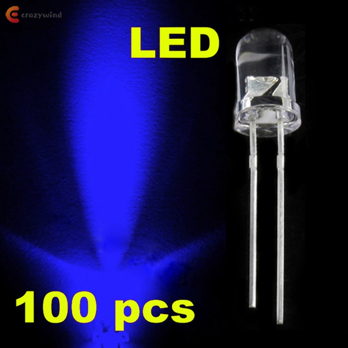 100pcs 3mm LED water clear White Light Emitting Diodes round top ultra bright