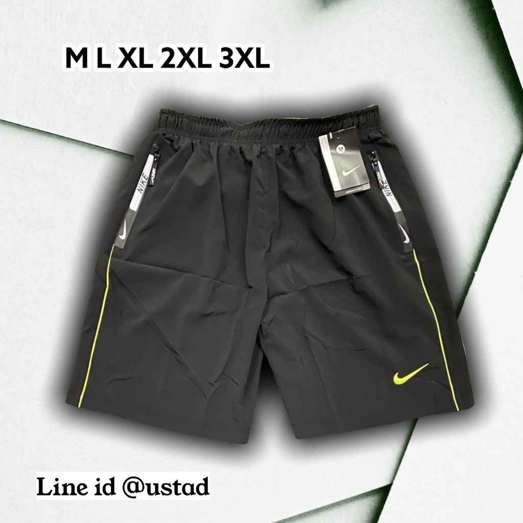 พร้อมส่ง กางเกงลำลองขาสั้น กางเกงกีฬาผ้าร่มชาย กางเกงออกกำลังกายรุ่น 18 นิ้ว