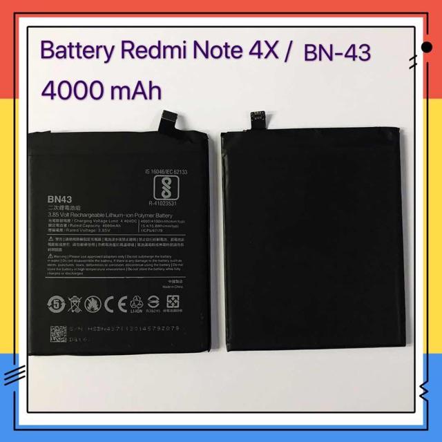 แบตเตอรี่ Battery xiaomi Redmi Note 4X / BN43、Redmi Note 5 Plus / BN44 ( 4000mAh)