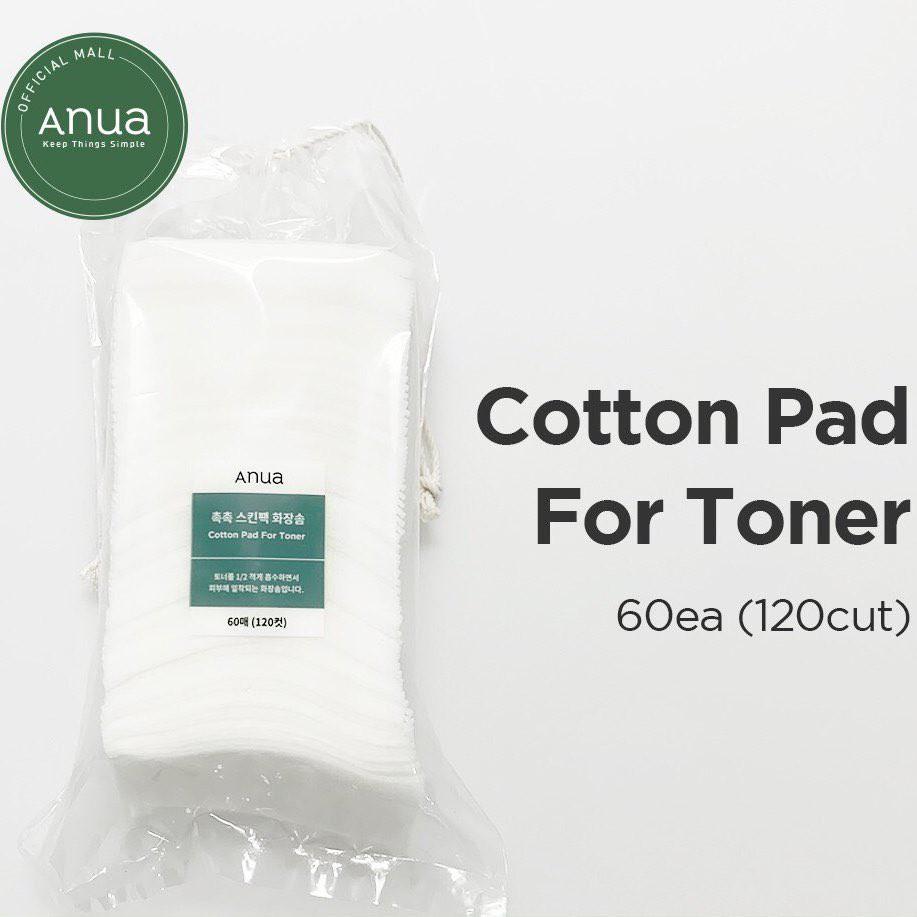(ของแท้/พร้อมส่ง) Anua Cotton Pad For Toner