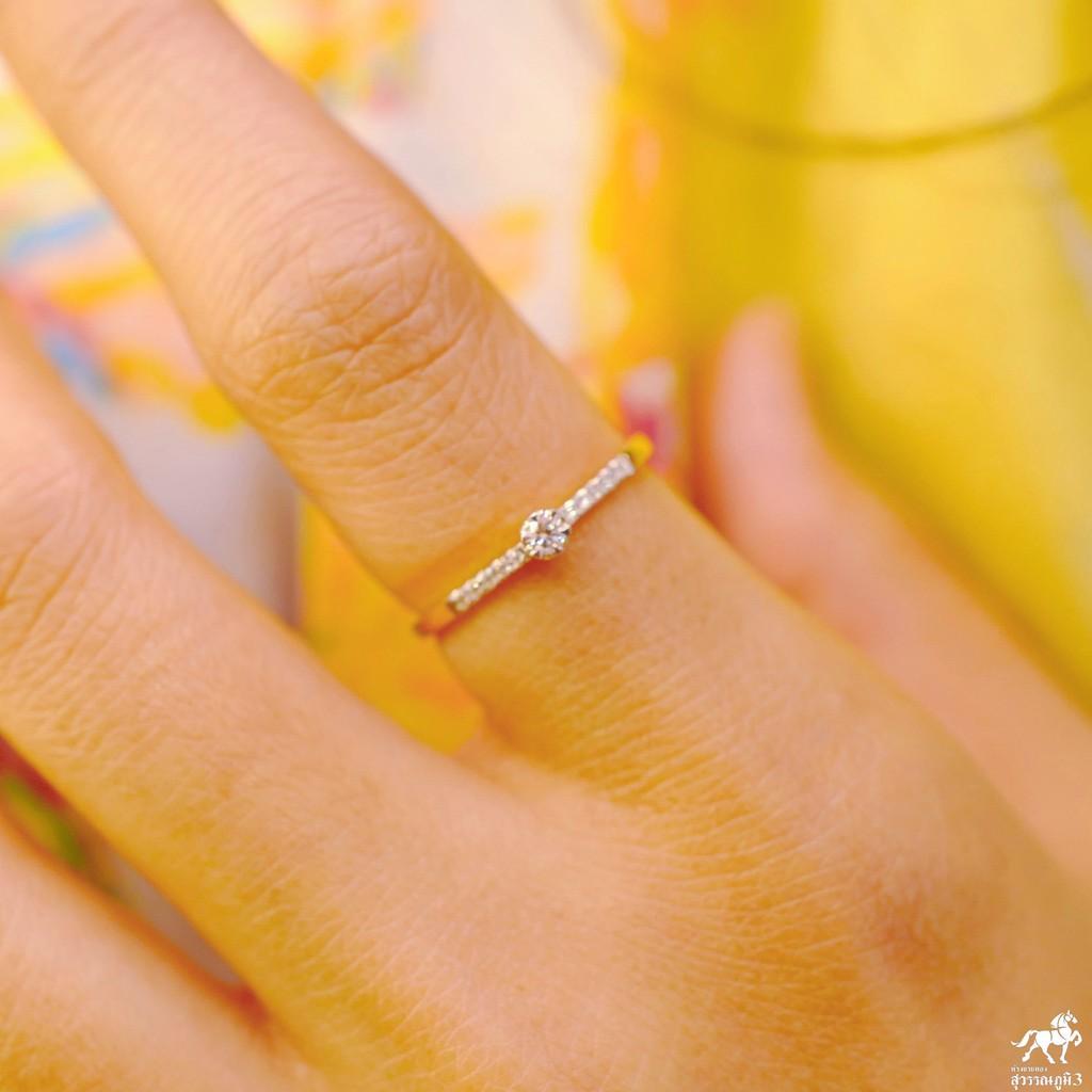 แหวนเพชรแท้ทองคำแท้ No.11 เพชรเบลเยี่ยมคัท ทองคำแท้ 9k (37.5%) ในราคาเปิดตัว ✅ ขายได้ มีใบรับประกัน