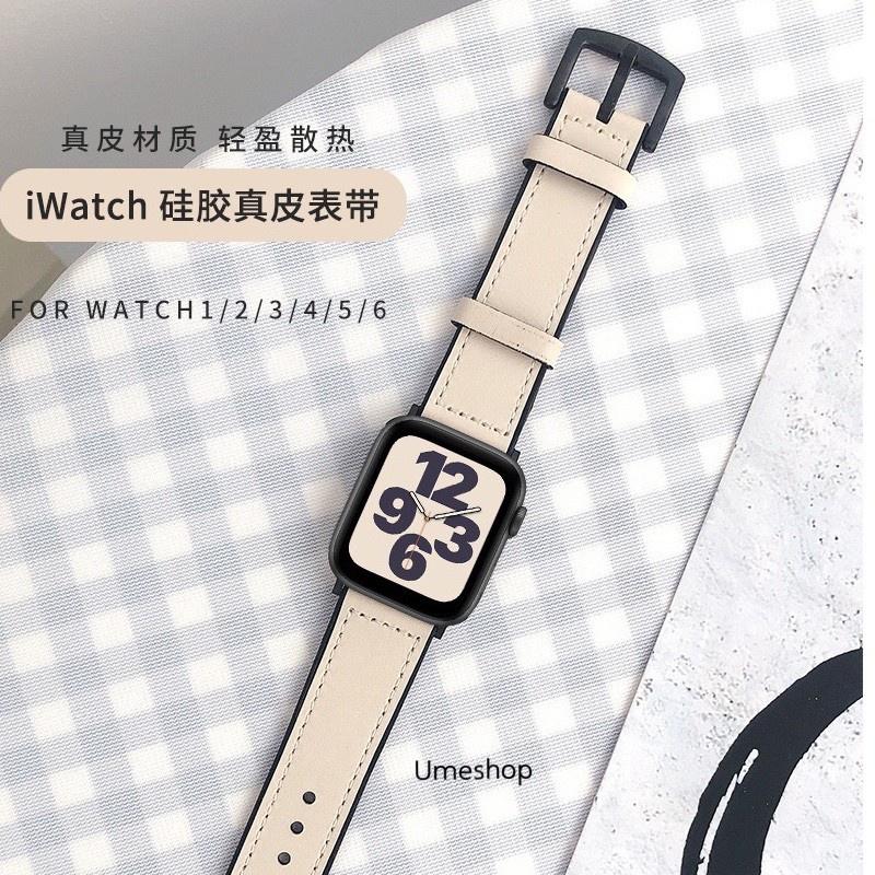 【แนะนำ】☑▪❂สาย สำหรับ AppleWatch แบบ หนัง  38/40, 42/44 mm. Series 6 /5/4/3/2/1 series SE สายหนังแบบใหม่!!!