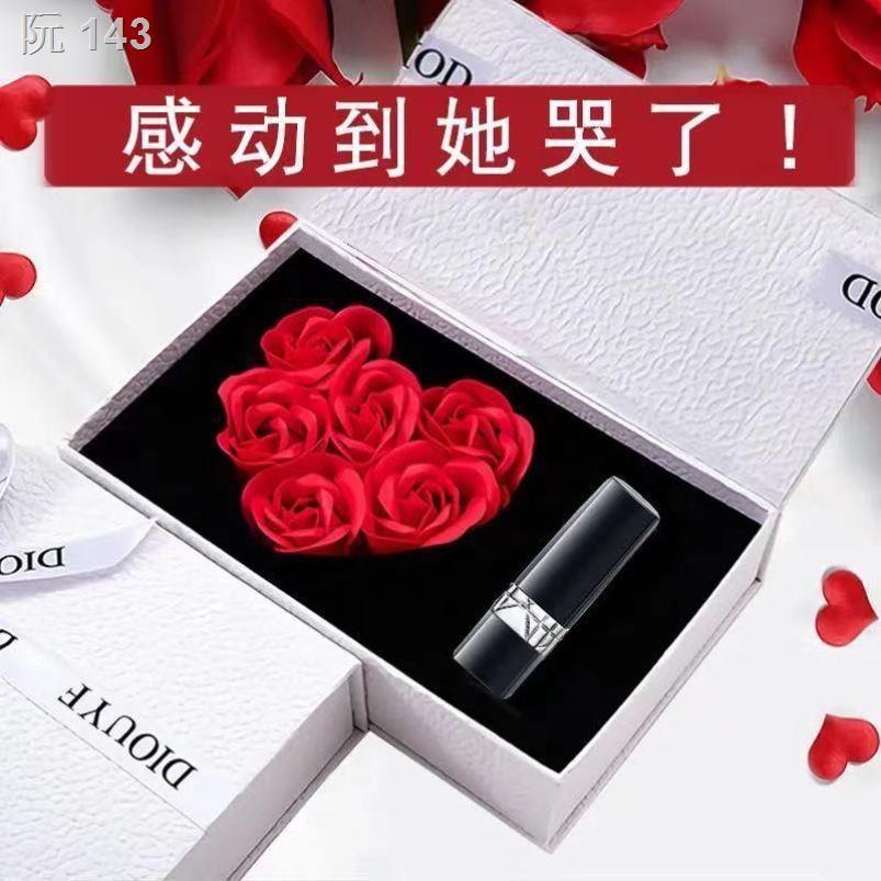 ✳✔Dior Yafei lipstick matte moisturizing 999 080888643 classic red gift box 520