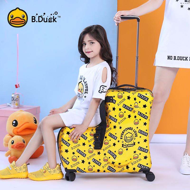 ん⅚ กระเป๋ารถเข็นเดินทาง กระเป๋าเดินทางพกพา กระเป๋าเดินทางเด็ก กระเป๋าเดินทางสำหรับเด็กที่สามารถนั่งได้และขี่เด็กการ์ตูนร