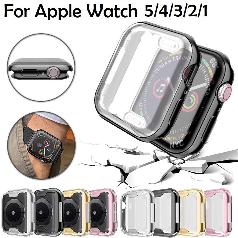 พร้อมส่ง‼️ Series 1,2,3,4,5 Case กันรอย Apple watch Case Iwatch TPU เเบบใสเเละนิ่ม 38mm 40mm 42mm 44mm Cover