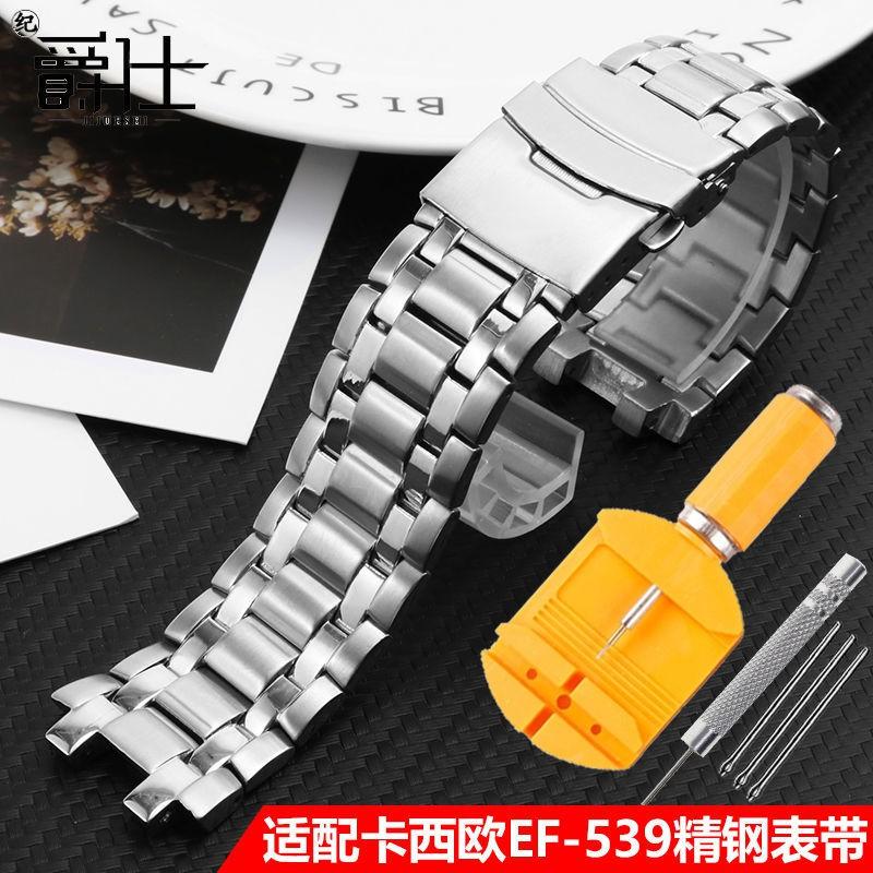 สายนาฬิกาข้อมือผู้ชายสายสแตนเลส Casio EDIFICE series EF-539D-1AV อุปกรณ์สายสแตนเลส สายนาฬิกา