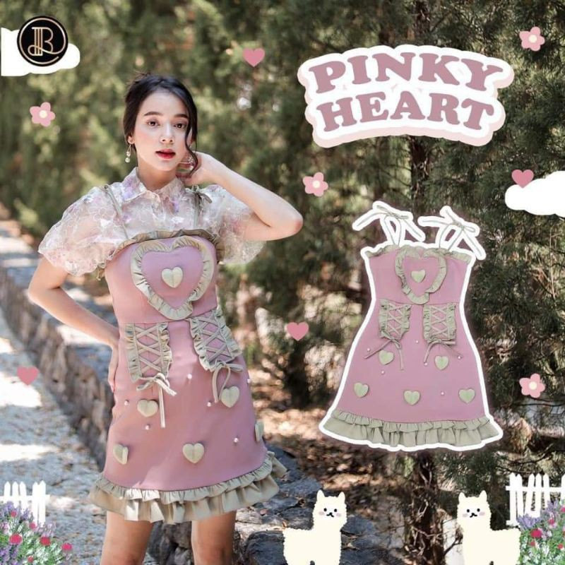 Blt dress size xs ได้เดรสกับเสื้อ My pinky heart