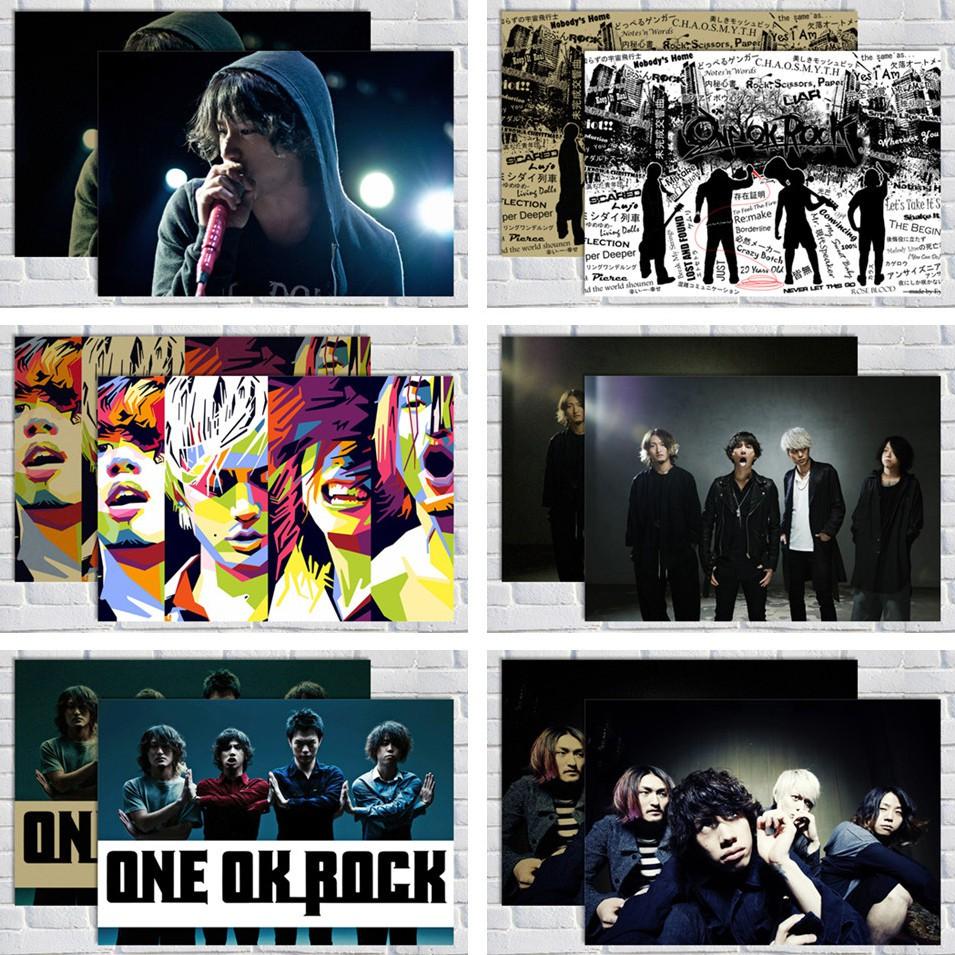 สติกเกอร์ติดผนังลาย One Ok Rock Japanese Rock Star