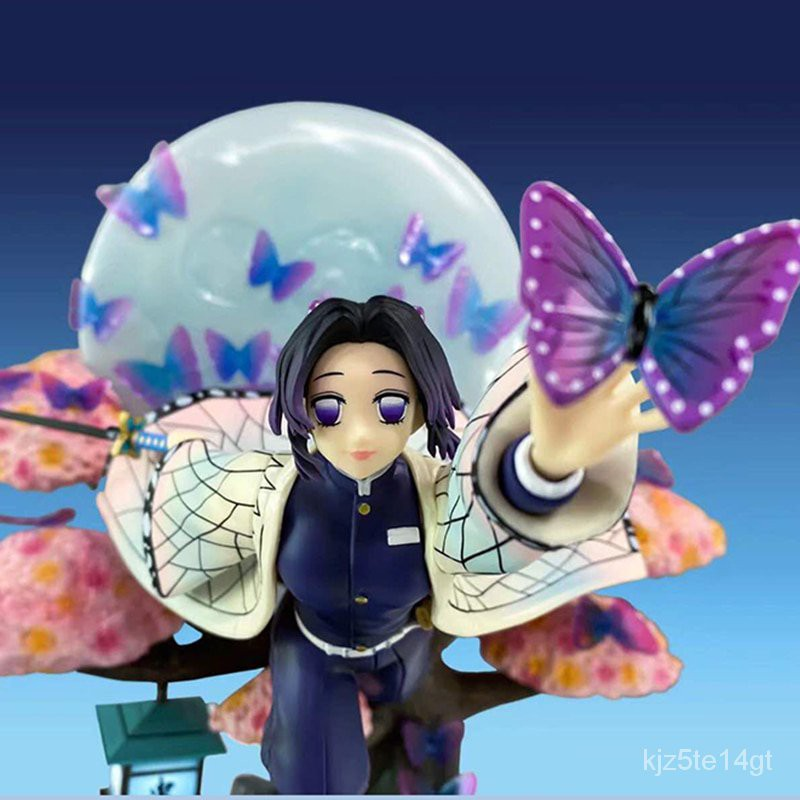 Boutique 31cm Girl VC Action Figure Toys Kochou Shinobu Collection Model Doll Gift Demon Slayer Kochou Shinobu Anime Fig