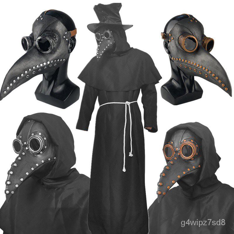 ฮาโลวีนCOSเสื้อผ้าอบไอน้ำพังก์ยุคกลางอุณหภูมิตัวเมียแพทย์จะงอยปากหน้ากาก SCP049สีดำอีกาหมวก