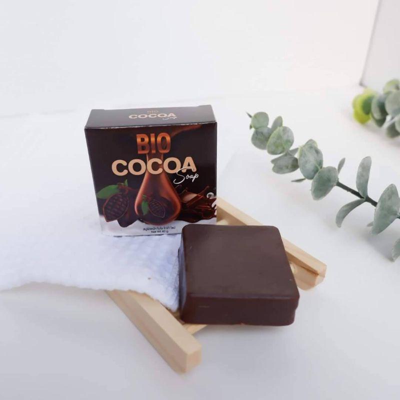 สบู่ไบโอโกโก้ BIO COCOA Soap สบู่ทำความสะอาดผิวหน้า เพื่อผิวกระจ่างใส