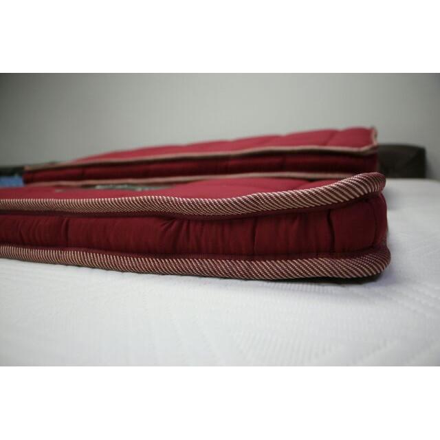 topper 5 ฟุต ที่นอน topper ที่นอนยางพาราอัด/Topper 3ฟุต/3.5ฟุต/5ฟุต/6ฟุต หนา2นิ้ว สีแดง