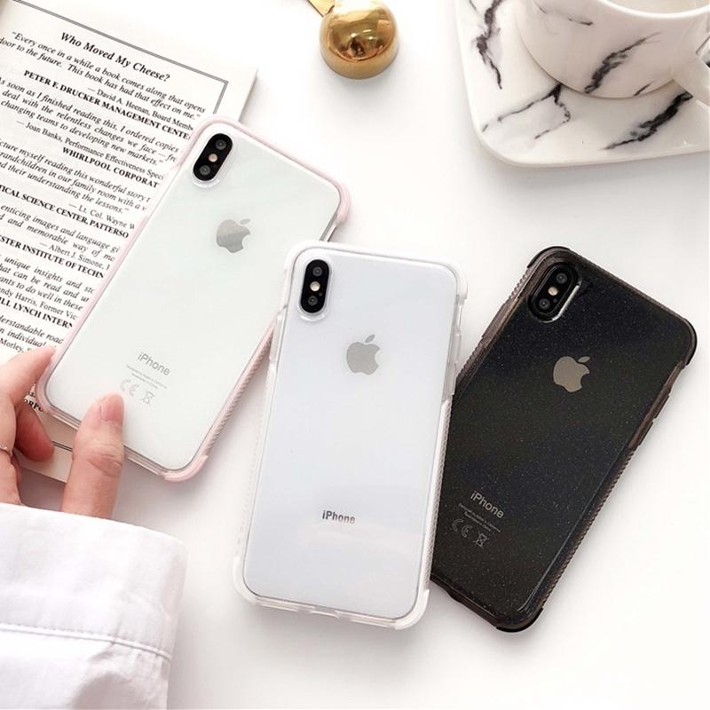 เคสโทรศัพท์มือถือ Tpu แบบสองชั้นสําหรับ Iphone 6 6s 7 8 Plus Xs Max Xr 11 Pro Max Se 20