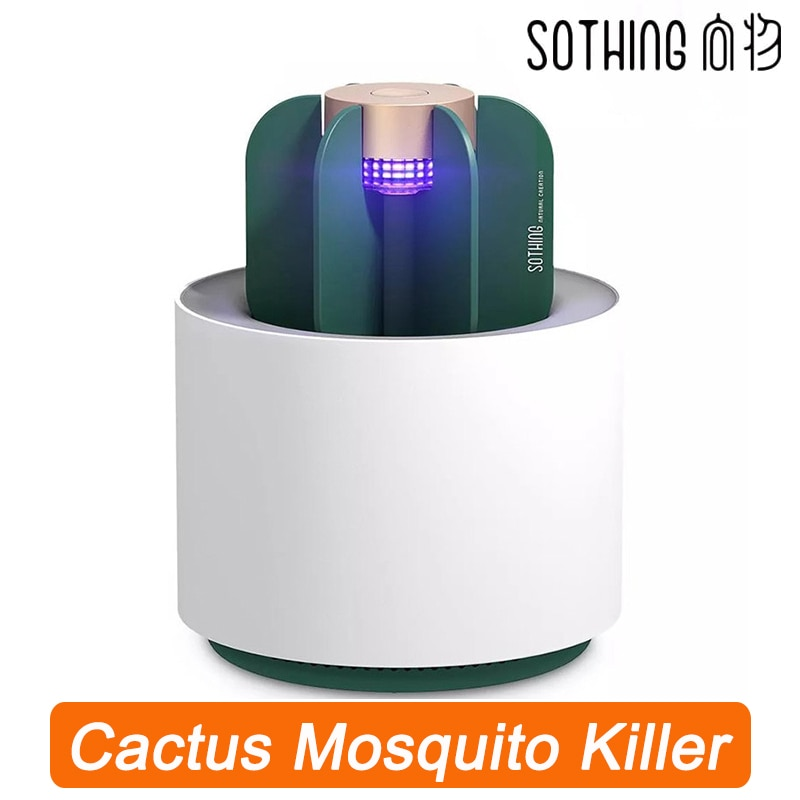 Xiaomi Youpin Sothing Mosquito Killer Lamp Portable Cactus USB Electric Mosquito-Repellent Insect Trap UV Light For Bedroom Home
