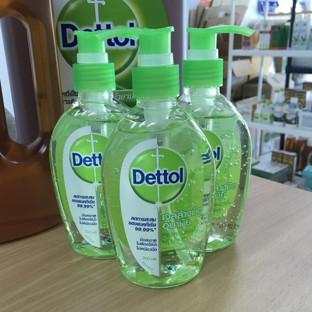 Dettol Hand Sanitizer Gel 200mL เดทตอล เจลล้างมืออนามัย 200 มล.