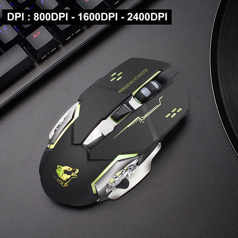 Colorful Backlight Optical Professional Gift Wired//Wireless Cord Gaming Mouse VC