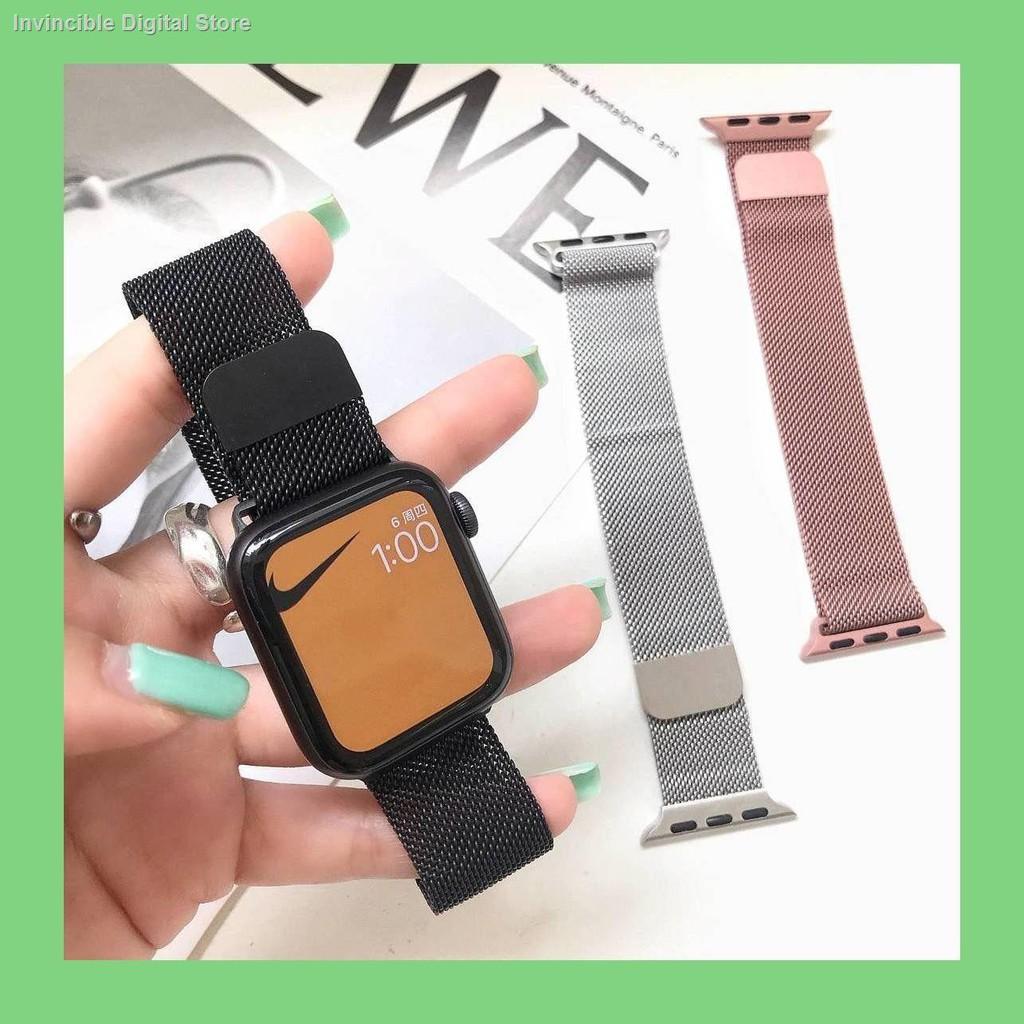 【อุปกรณ์เสริมของ applewatch】☽✒เหมาะสำหรับสาย Applewatch มิลานสแตนเลสสตีลสาย Apple iwatch สาย SE6 / 5/4/3 2