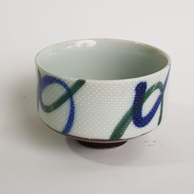 มือสอง แก้วชา งานจากญี่ปุ่น กว้าง 7.5 cm ลึก 5 cm กระถางแคคตัส ไม้อวบน้ำ ไม้โขด เจาะรูฟรี