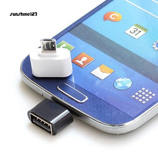 Sunshine_2Pcs Micro USB Male to USB 2.0 Adapter OTG Converter for Android Tablet
