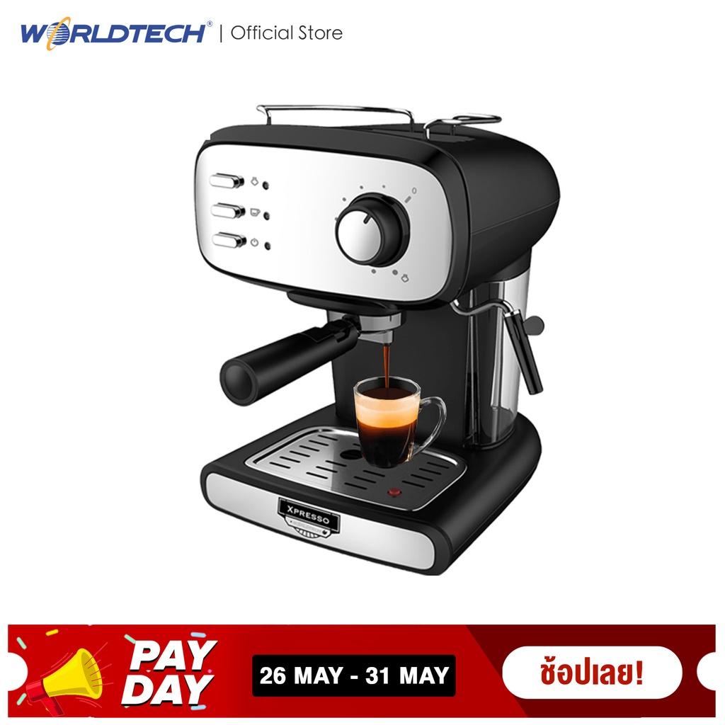 Worldtech เครื่องชงกาแฟสด รุ่น WT-CM15 เครื่องชงกาแฟอัตโนมัติ Coffee Machine เครื่องชงกาแฟ เครื่องทำกาแฟ เครื่องทำกาแฟอั