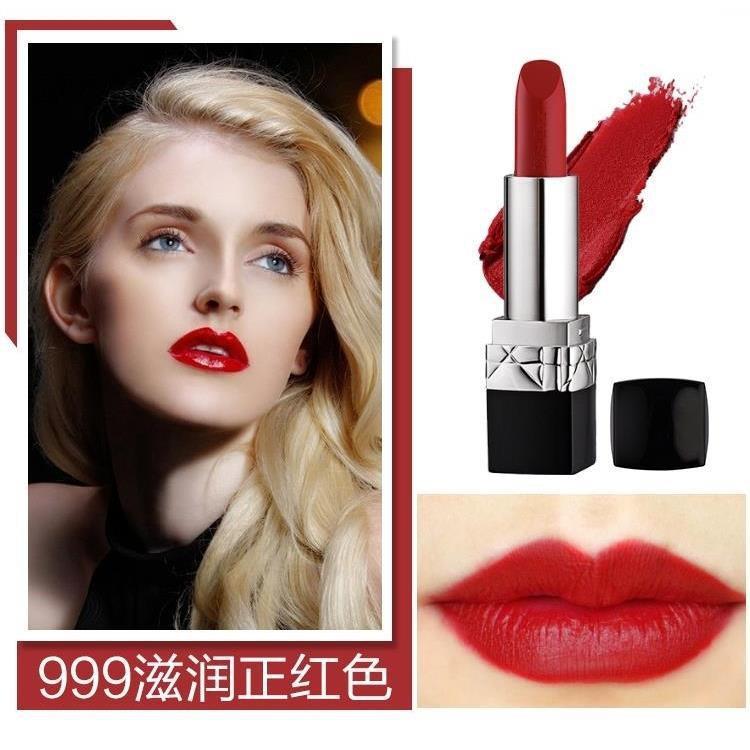 ▩❈✾Dike Dior Lipstick 999 Matte Moisturizing Gift Box Set Non-fading Non-stick Cup Genuine Deco
