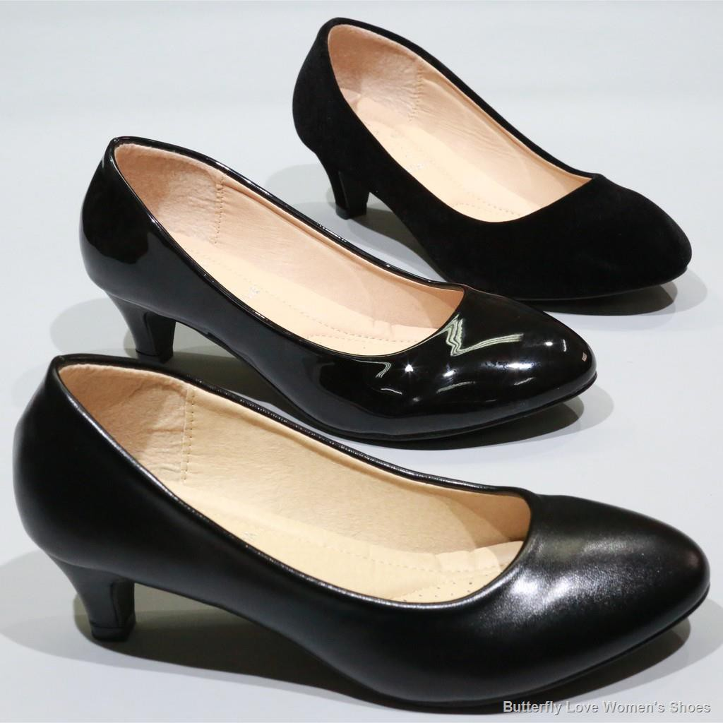 จุดไทย💮รองเท้าส้นสูง รองเท้าคัชชูนักศึกษา ส้นสูง รองเท้าคัชชูสีดำ