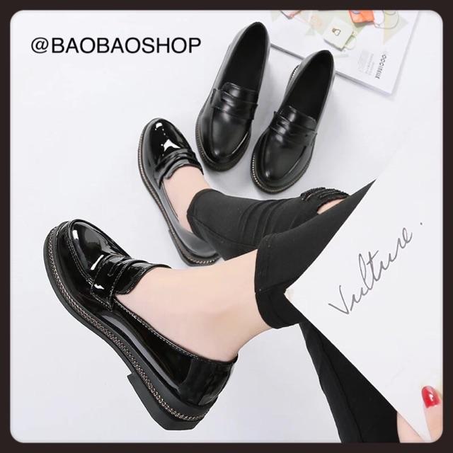 9062 รองเท้าคัชชูสีดำ ดำเงา/ดำด้าน