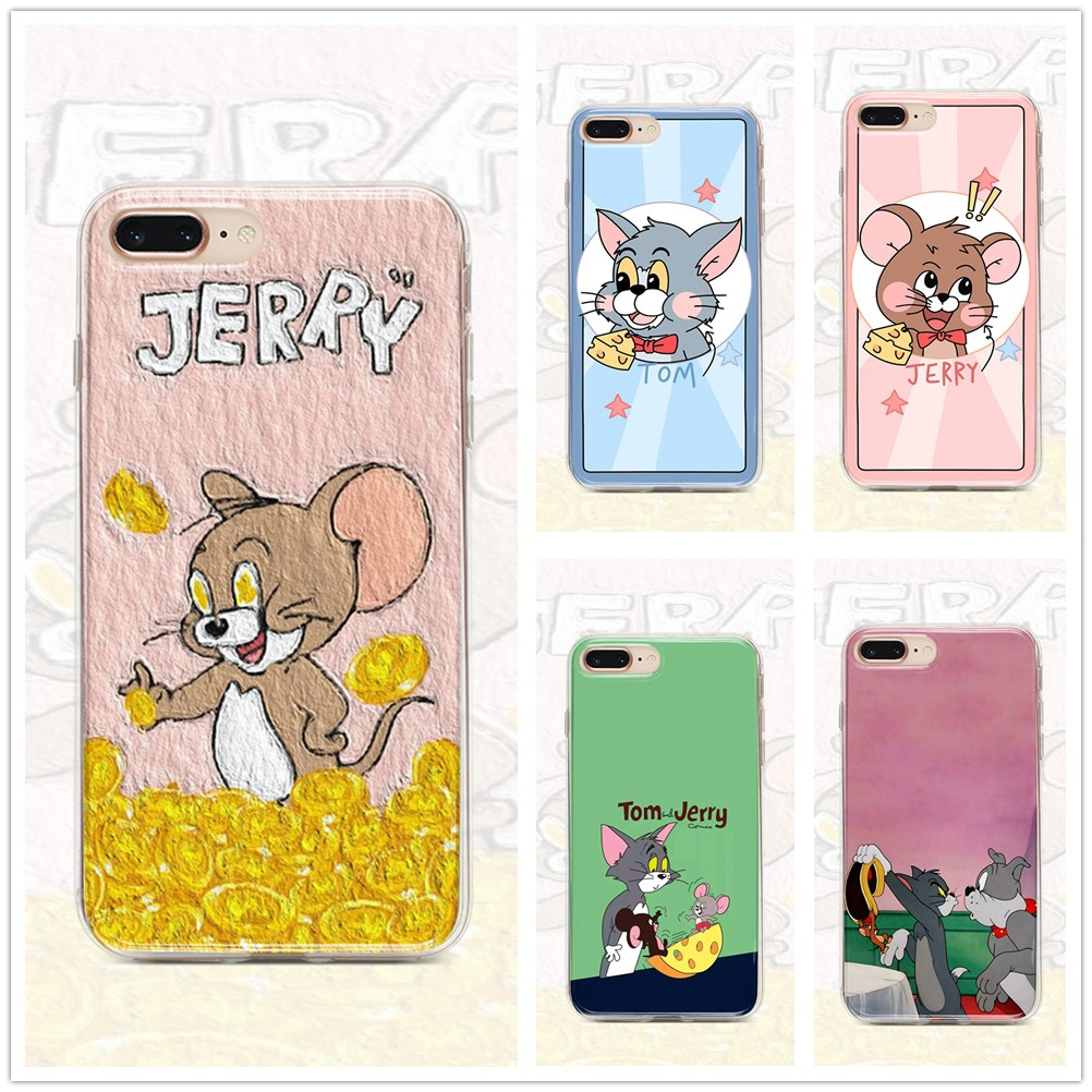 Casing Samsung Galaxy A10S Samsung A9 pro Samsung A8 2018 Samsung A7 2018 Samsung A6 plus M10 M40s Samsung M30 M30S M20 Soft Cover Couple phone case jerry tom SAMSC0109A