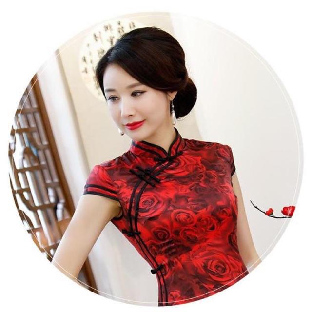 ชุดจีน กี่เพ้า ใส่ในวันตรุษจีน วันวาเลนไทน์