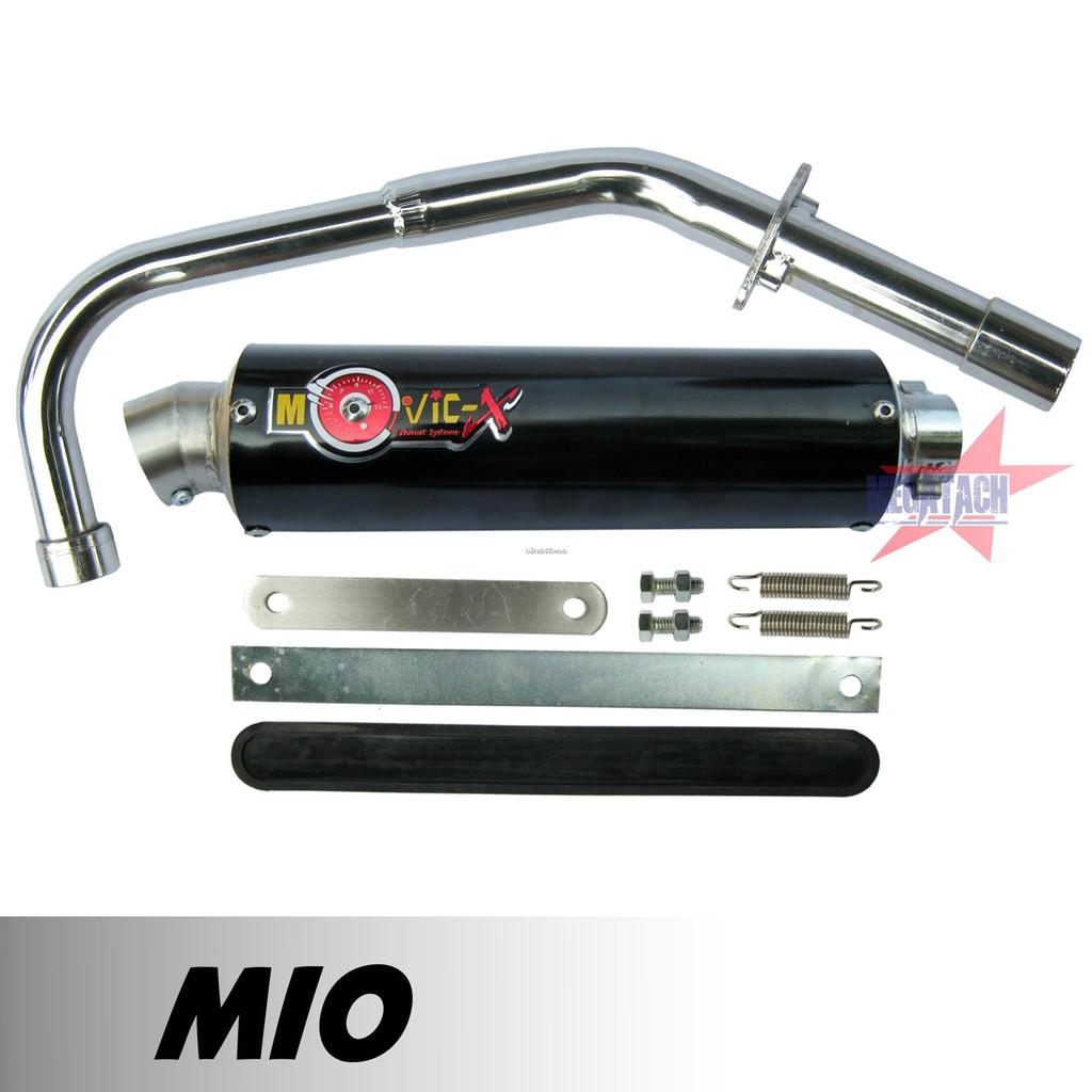 ►◄∋ท่อสูตร รุ่น MIO ปลายกลม ตรงรุ่น ท่อโมวิค MOVIC-X ทรง ENDURANCE มี มอก. คอท่อชุบโครเมี่ยมอย่างดี + ปลาย แค้มรัดท่อ พ
