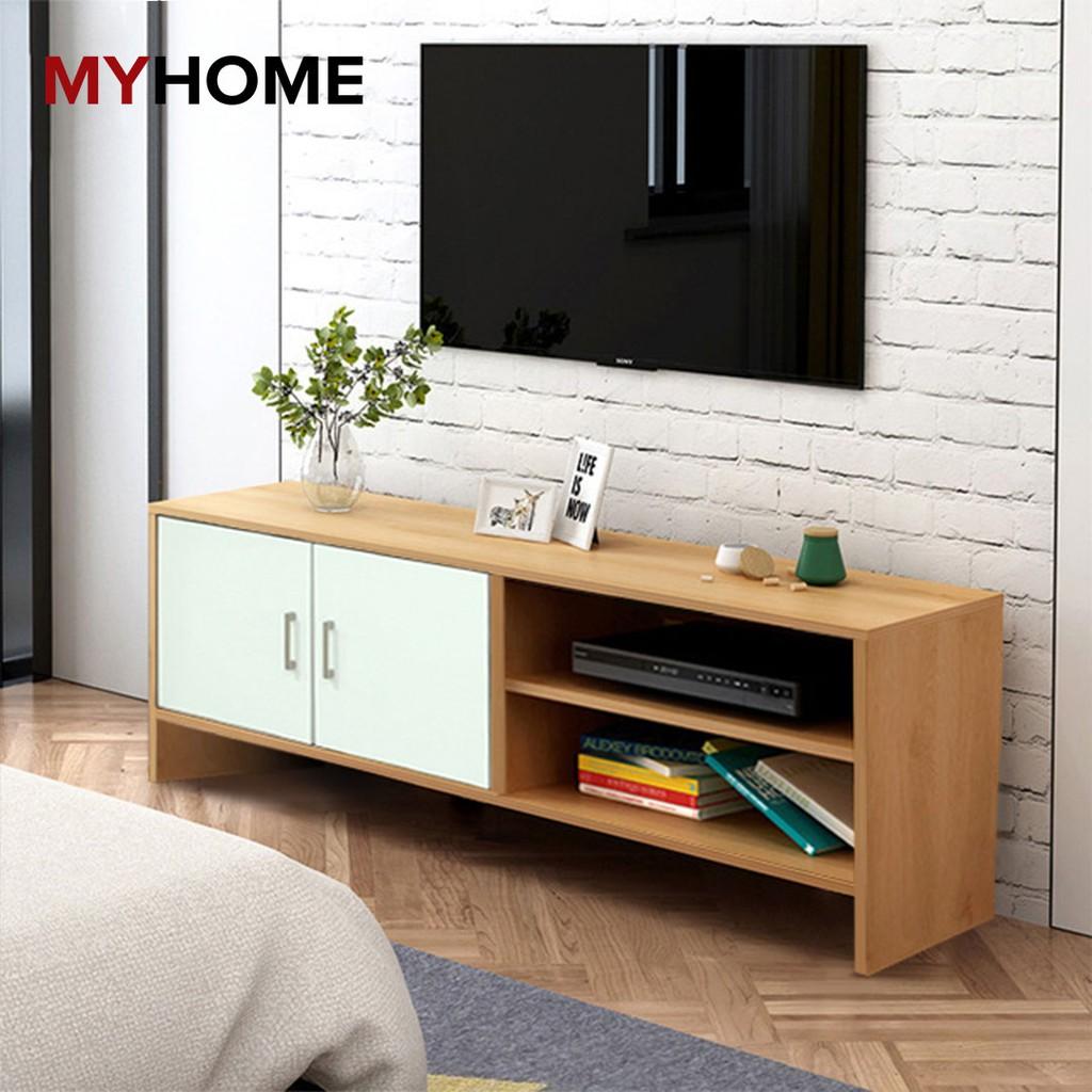 🏡MYHOME DESIGN🏡: ชั้นวางทีวี TV Rack 3.9ft (L:120cm) Wooden TV Cabinet / TV Console / TV Rack sijian (H5356)