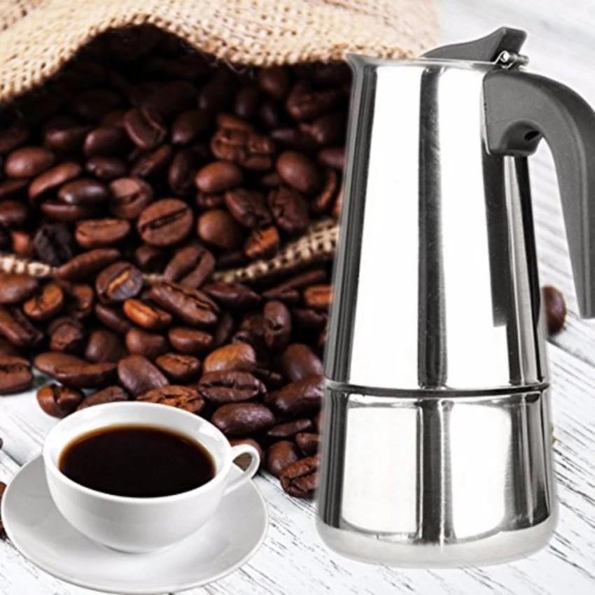 เครื่องชงกาแฟสด ใครยังไม่ลอง ถือว่าพลาดมาก !! หม้อต้มกาแฟ เครื่องชงกาแฟสด เครื่องชงกาแฟ เครื่องทำกาแฟสด ขนาด 4 ถ้วย รุ่น