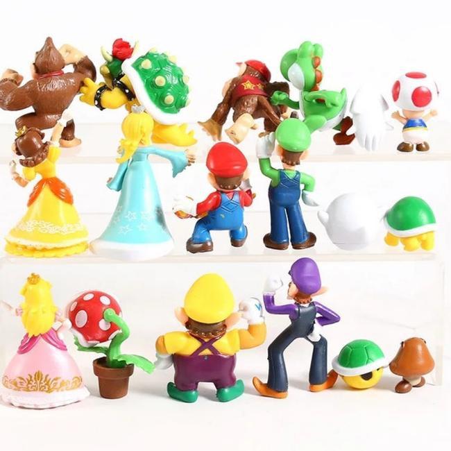'Action Figure Mario Bros And Friends ชุด 18 ชิ้น (ซื้อ)
