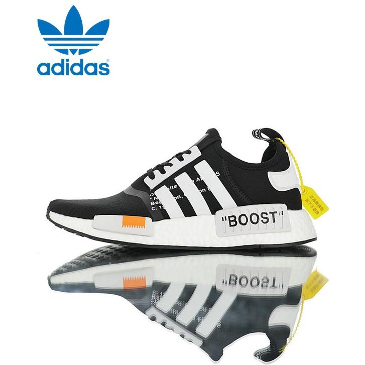 Off-White x Adidas Originals NMD_R1 OWชื่อร่วม รองเท้ากีฬา รองเท้าวิ่ง DA6930
