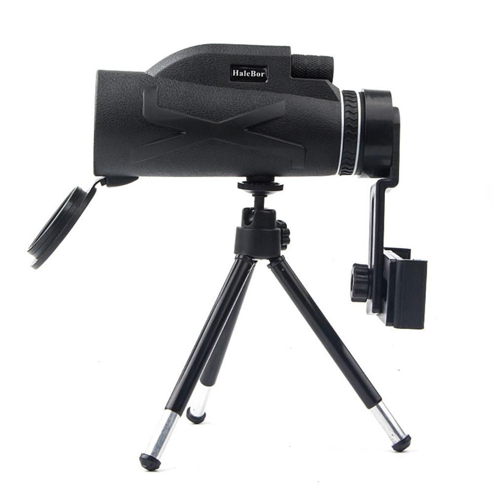 High Power 80x100 HD Monocular Telescope Night Vision Outdoor+Phone Clip Tripod
