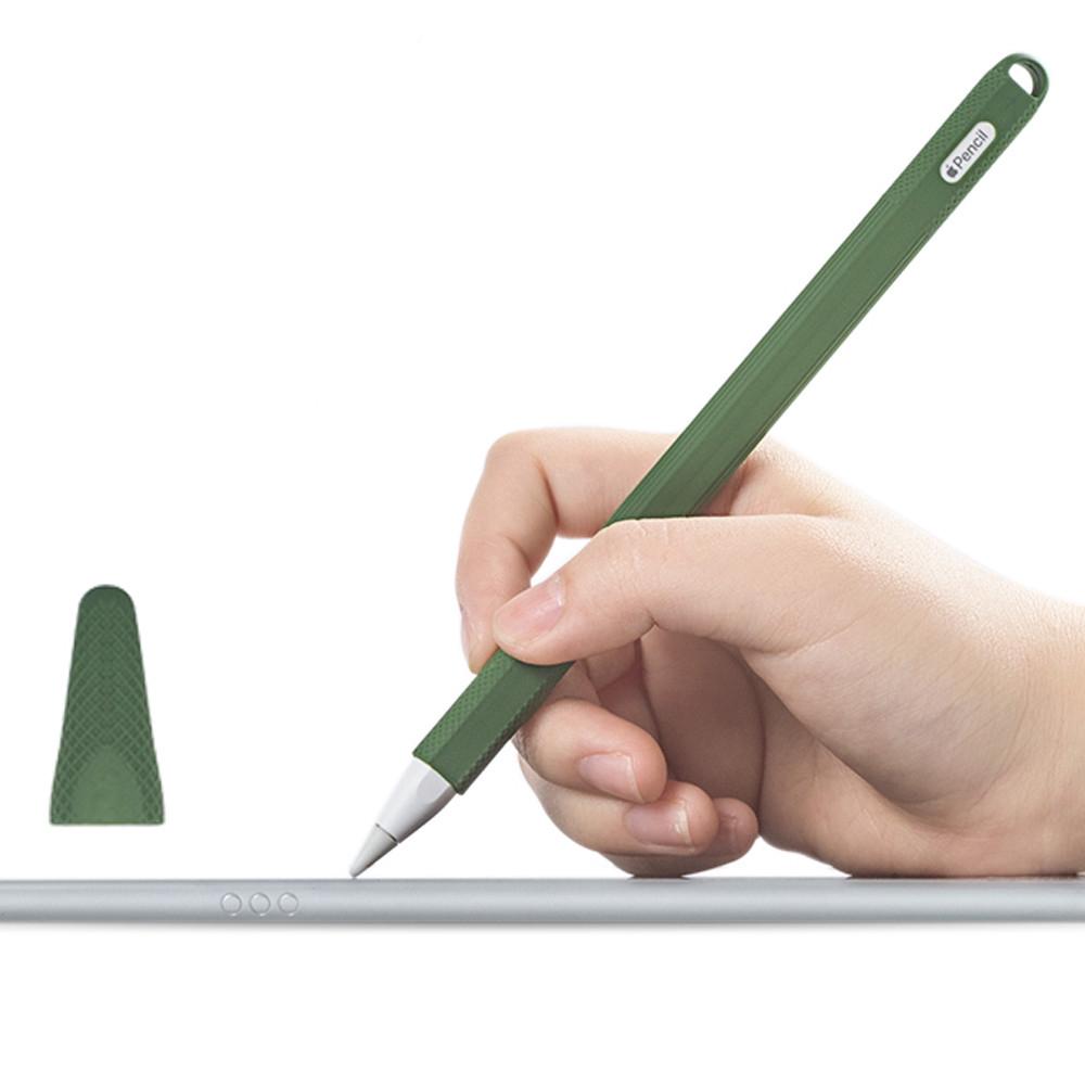 [พร้อมส่ง] แท็บเล็ตสไตลัสทัชป้องกันดินสอ Tablet Touch Stylus Pen Protective Cover for Apple Pencil 2 Portable Soft Silicone Case