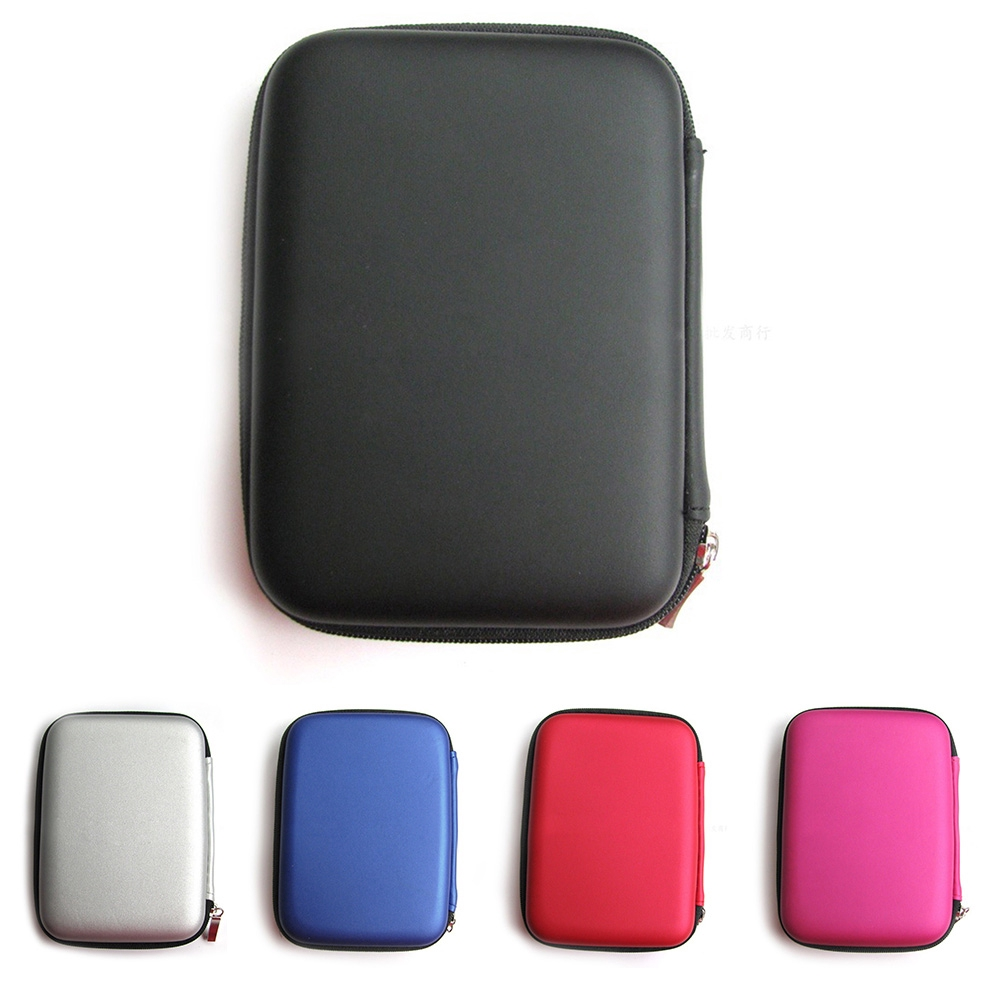 Portable Travel Carrying Shockproof HDD USB Storage Box Case Zipper Pouch Holder
