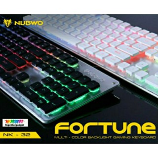 NUBWO NK-32 เกมมิ่งคีย์บอร์ด Rubber Dome Switches FORTUNE TH/ENG