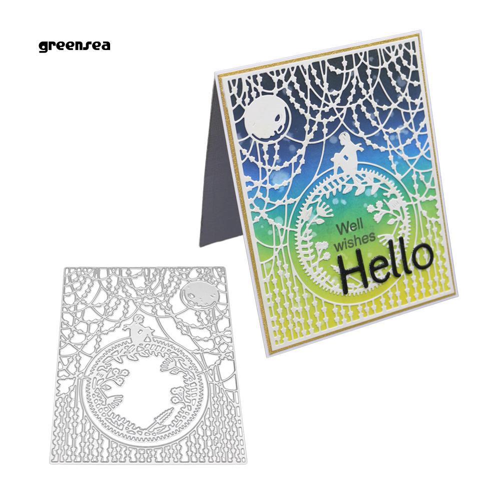 Circle Frame Cutting Dies Stencil DIY Scrapbooking Album Embossing Paper Card