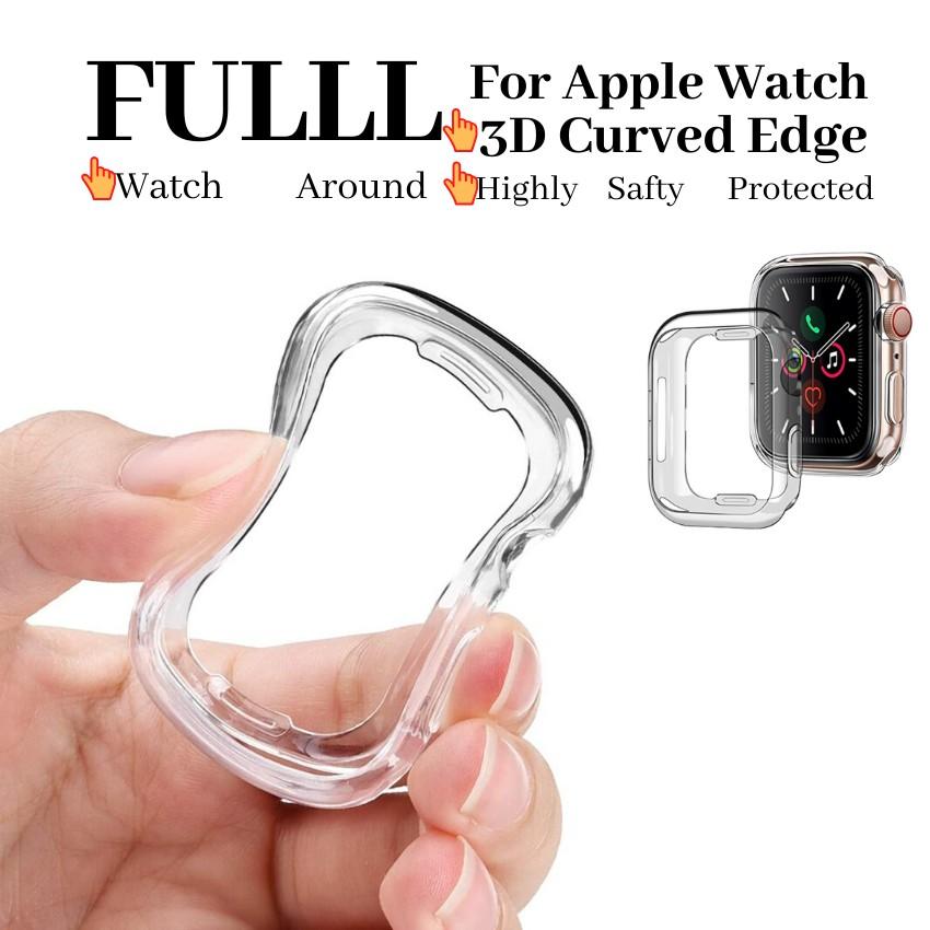 Apple Watch Clear Case พร้อมตัวป้องกันหน้าจอ TPU ในตัวสำหรับ iWatch 44mm 42mm 40mm 38mm(AONEE)