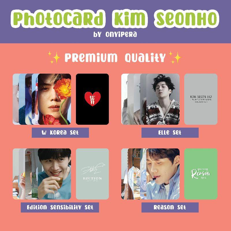 ชุดการ์ดรูปภาพพรีเมี่ยมคุณภาพดี Kim Seon Ho / PC Kim Seonho W Kim Kim Seonho W Kim Kim Seonho W Korea Elle Edition Sensibility Reason