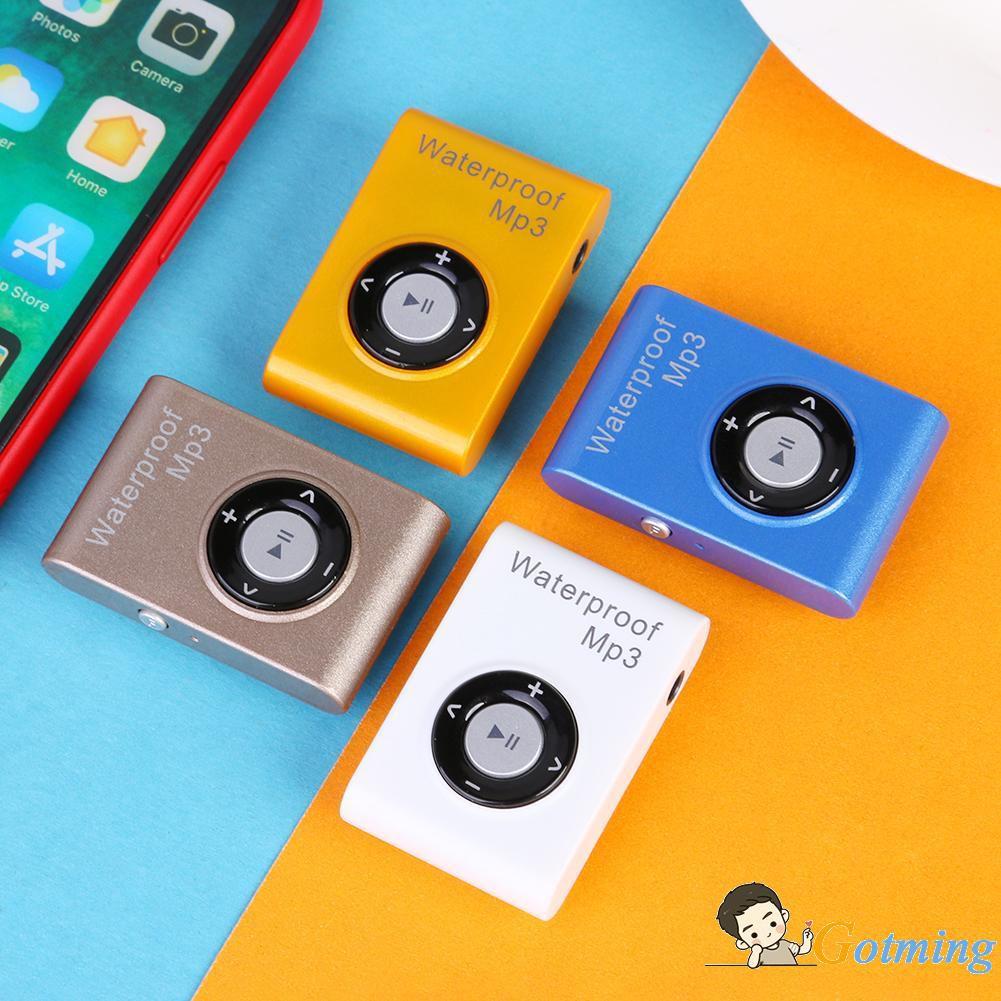 ✦Mini IPX8 Waterproof 16GB MP3 Player Stereo Lossless Music Player FM Radioˇ