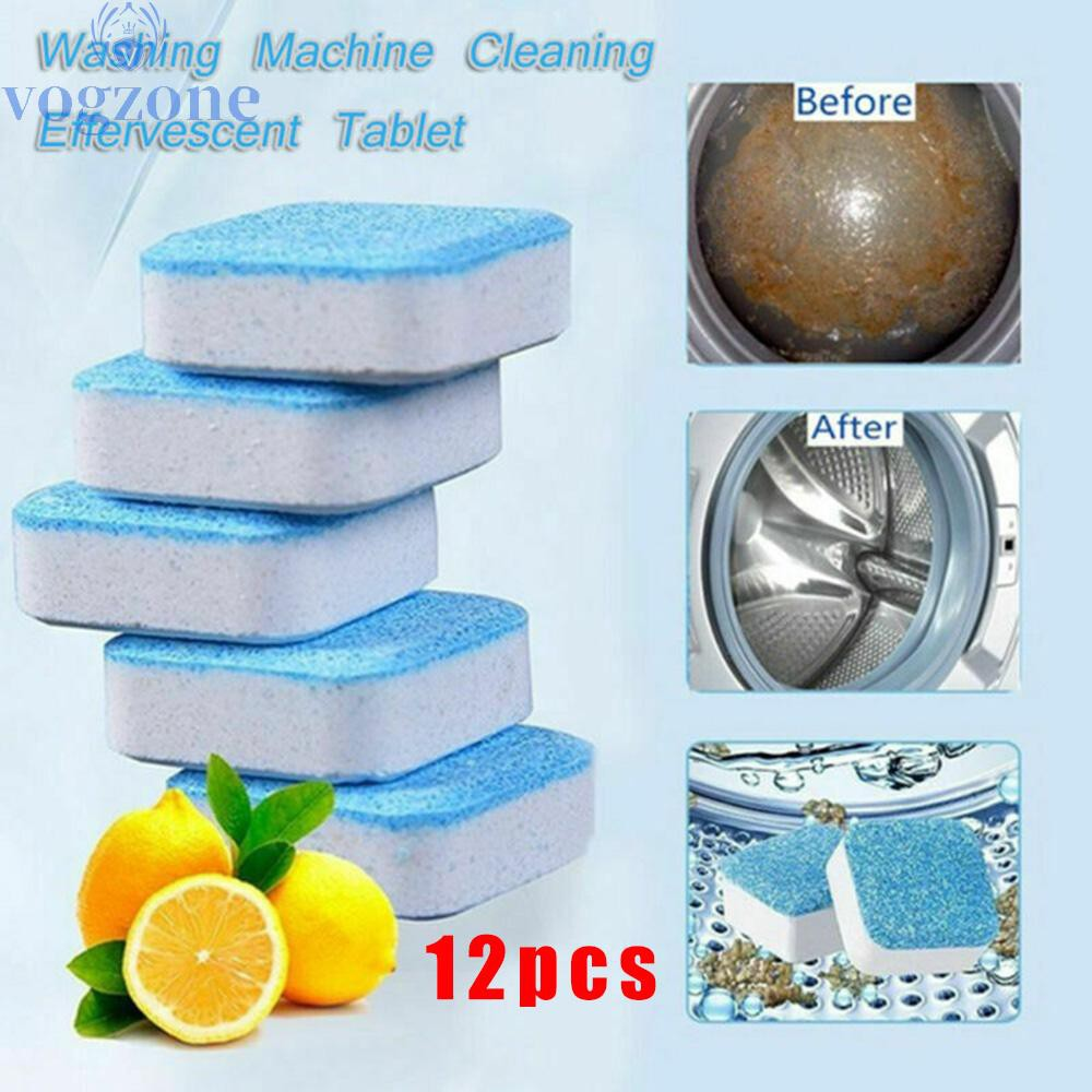 12 pcs! ! Washing machine cleaning effervescent tablets deep descaling washing machine cleaner disinfection block fo