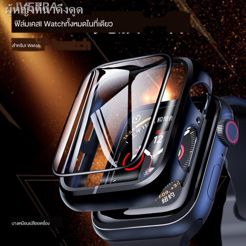เคสซิลิโคนอ่อนนุ่มสำหรับเคสAirPods1/2 Case Airpods caseiWatch protective shell cover iWatch6 film all-in-one all-inclusive tempered ApplewatchSE Apple watch 1/2/3/4/5/6 generation 44mm40/38/42