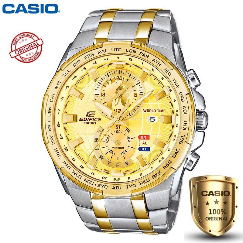 นำเข้าCasio Edifice รุ่น EFR-550D-4A สินค้าขายดี นาฬิกาข้อมือผู้ชาย สายสแตนเลส (สินค้าใหม่ล่าสุด)(ของแท้100% ประกันCMG)