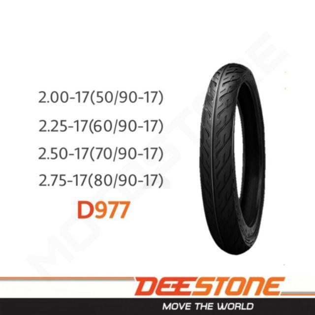 DEESTONE ยางนอก ดีสโตน ลายไฟ D977 ขอบ 17 และ 14